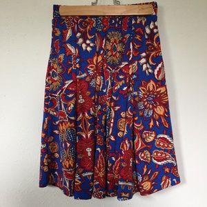 LuLaRoe Madison Skirt, 4th of July Beauty, Size S